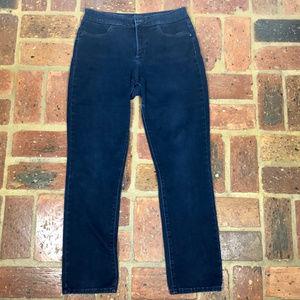 NYDJ Leggings Sz 10 Dark Wash Stretch Blue Jeans